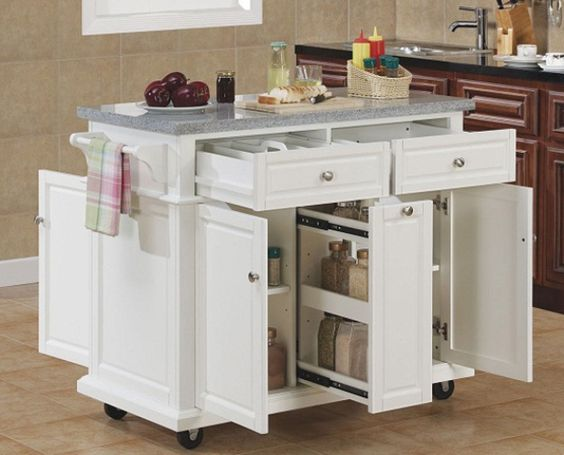 Kitchen island for extra storage