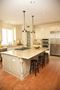 Kitchen island adds more seating space
