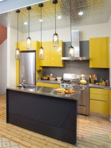 Vertical design for small kitchens